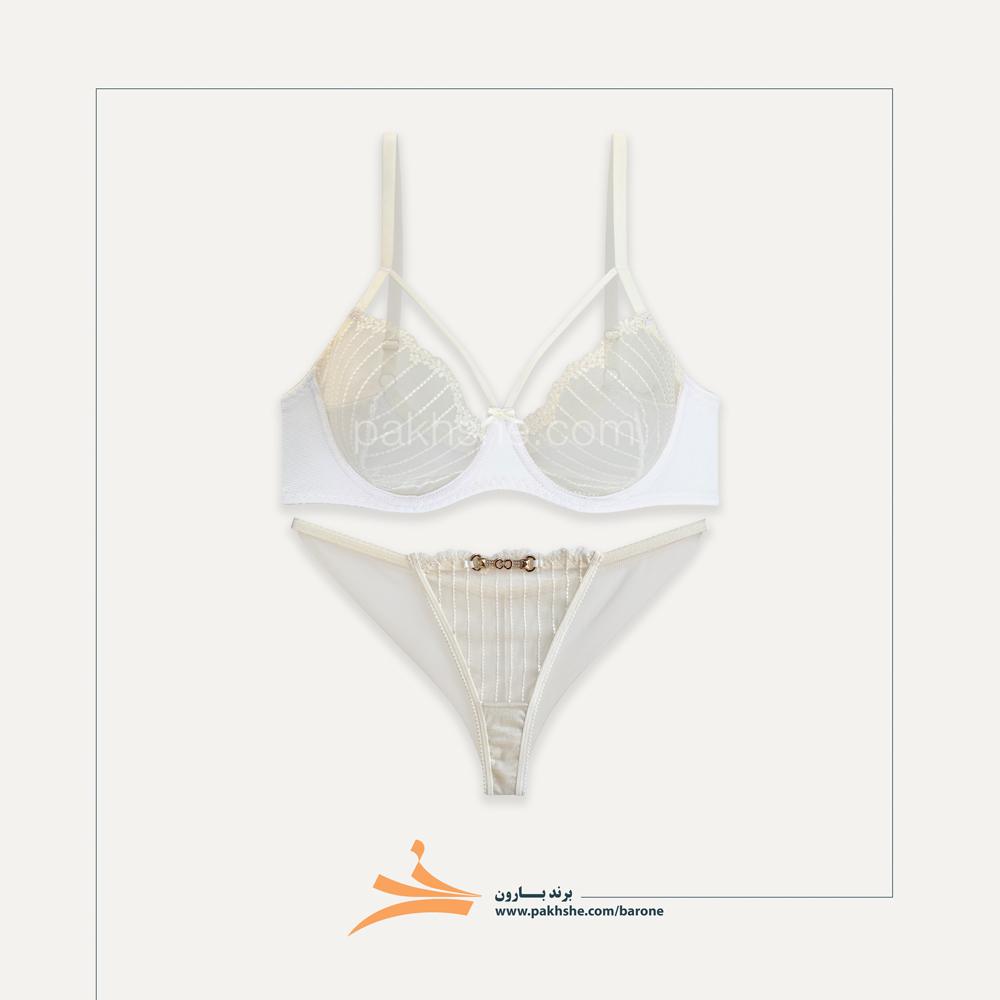 ست فانتزی سفید رنگ کاپ سی هارنس دار کد f2007 برند لاوندر بارون
